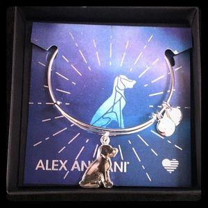 Alex & Ani Crystal Dog Bracelet